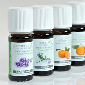 Packaging huiles essentielles pour Aroma Therapeutics